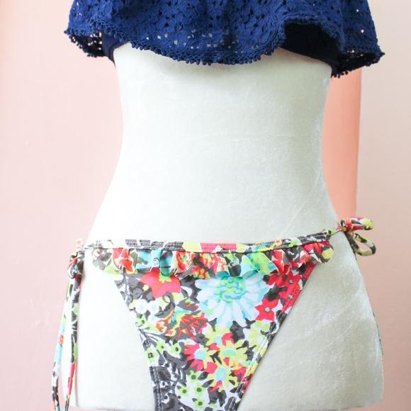 belk Other - Island Soul Swim Floral Bikini Bottom - Tie Sides